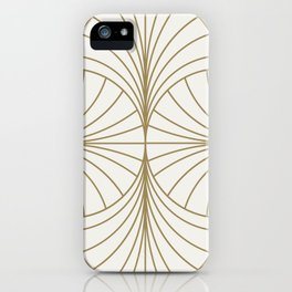 Diamond Series Inter Wave Gold on White iPhone Case
