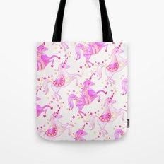 Pink Unicorns Tote Bag