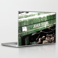 john green Laptop & iPad Skins featuring John Deere by Captive Images Photography