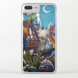 Magical Swamps Clear iPhone Case