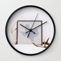 texas Wall Clocks featuring Texas by Broad Arrow Designs