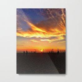 "Hermosa Beach ""Volleyball"" Metal Print"