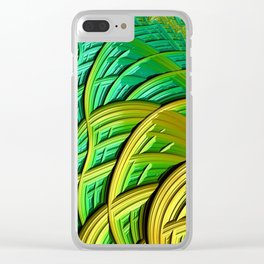 patterns green yellow string Clear iPhone Case