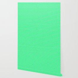 Lime Cube Tiles Wallpaper