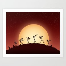Dixieland Skeletons Art Print