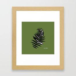 Spring Fern Framed Art Print