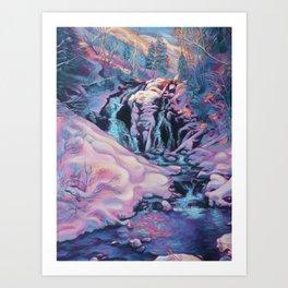 Fairy Falls in December Art Print