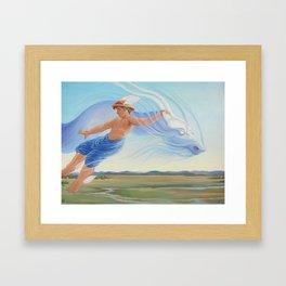 Hermes and the Zephyr Framed Art Print