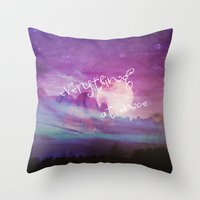 dreamer Throw Pillows featuring DREAMER by Monika Strigel