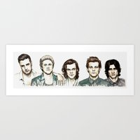 cyrilliart Art Prints featuring Watercolour 5 by Cyrilliart