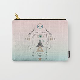Magic Tribal Ornament Soft Pastels And Gold Carry-All Pouch
