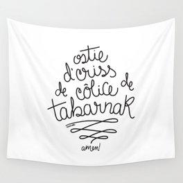 Sacres Québec - Black Wall Tapestry