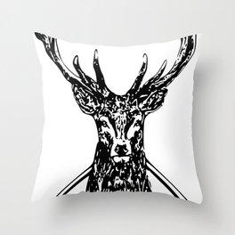 Diamond Stag Throw Pillow