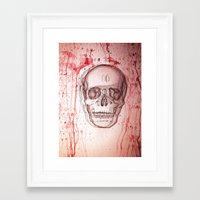 palo alto Framed Art Prints featuring Palo Skull by katimarco