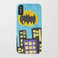 bat iPhone & iPod Cases featuring Bat by Marialaura