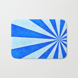 Blue sunburst Bath Mat