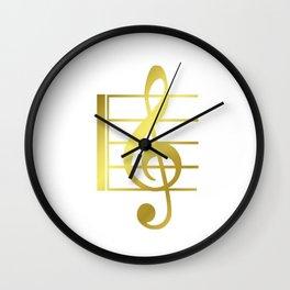 Musical symbol | music clef gift idea Wall Clock