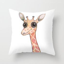 Cute comic giraffe Throw Pillow
