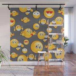 Emoji Pattern 5 Wall Mural