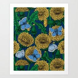 Dandelion meаdow Art Print