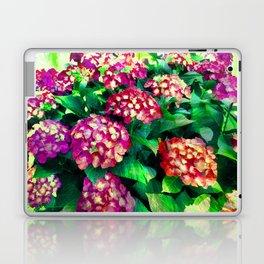 Garden Hydrangea - Raspberry Pink and Lavender Laptop & iPad Skin