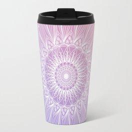 Floral mandala on pastel shades n.1 Travel Mug