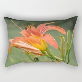 lily bloom and 9 buds Rectangular Pillow