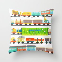Long Train Throw Pillow