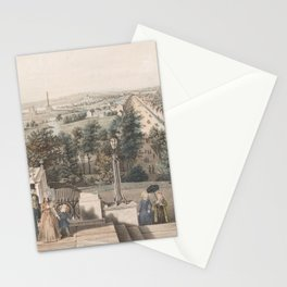 Vintage Pictorial Map of Washington DC (1849) Stationery Cards