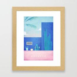 Morocco / Cactus Framed Art Print