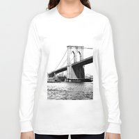 brooklyn bridge Long Sleeve T-shirts featuring Brooklyn Bridge by Amy Giacomelli