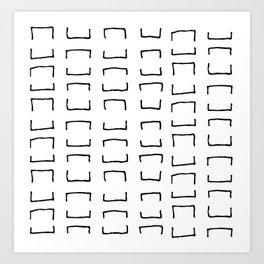 Square Brackets Art Print