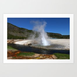 Thermal And Geyser Field Yellowstone NP Art Print