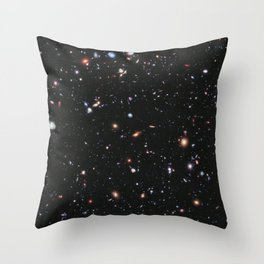 Hubble goes to the extreme to assemble farthest-ever view of the universe Released on September 25th, 2012 Throw Pillow