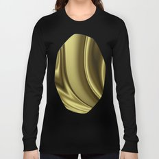 Abstract Fractal Colorways 02 Simple Gold Long Sleeve T-shirt