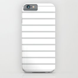 THE NEW STRIPE . WHITE RHYOLITE iPhone Case