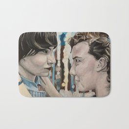 Mike and Eleven, oil painting Bath Mat