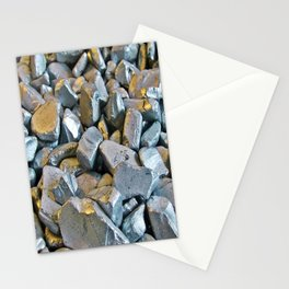 Golden Silver Stones Stationery Cards