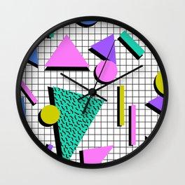 80s Retro Geometric Pattern 2 Wall Clock