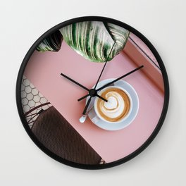 Cafe + Plants IV Wall Clock