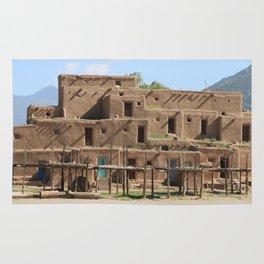 A Taos Pueblo Building Rug