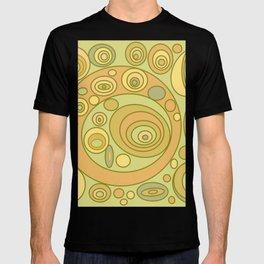 Retro Circles Olive Tangerine T-shirt