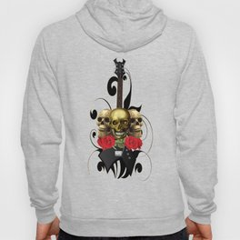 Red Rose Skull Rock and Roll Hoody