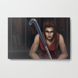 The Field Hockey Player Metal Print