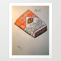 Warped Carton Art Print