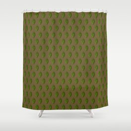 Hops Brown Pattern Shower Curtain