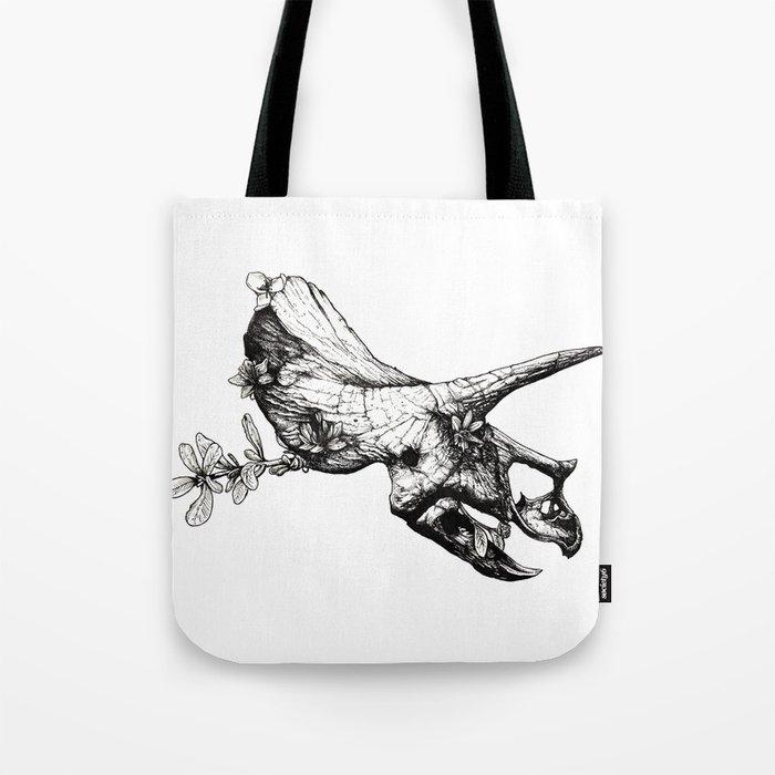 Jurassic Bloom - The Horned. Tote Bag