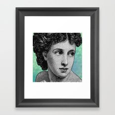 Seductress Blue Framed Art Print