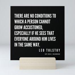 69  | Leo Tolstoy Quotes | 190608 Mini Art Print