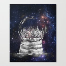 Magical Winter Snow globe Canvas Print